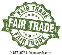 Fair Trade Grunge Stamp