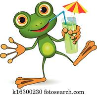Frog and cocktail