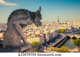 Gargoyle on Notre Dame Cathedral