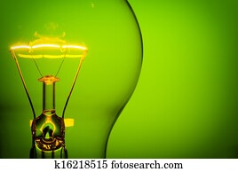 glowing light bulb
