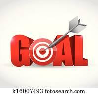 goal and target and dart illustration design
