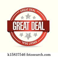 great deal seal illustration design