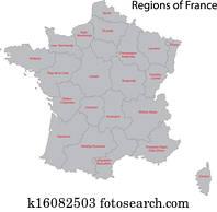 Grey France map