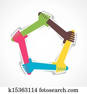hand join team work or support each