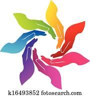 Hands voluntary logo