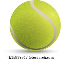 Illustration of a tennis ball