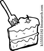 Clip Art Karikatur Kuchen K17737678 Suche Clipart Poster