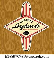 klassische, brandung, logo, design