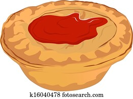 Meat Pie with Tomato Sauce