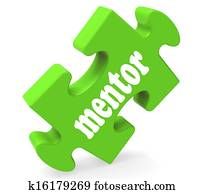 Mentor Puzzle Shows Advice Mentoring And Mentors