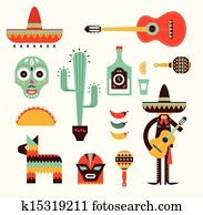 Mexico icons