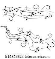Music notes on staff