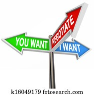 Negotiate You and I Want Street Signs Negotiation Agreement