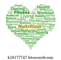 Nutrition Heart Shows Healthy Food Nutrients And Nutritional
