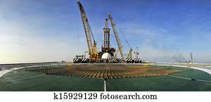 Oil Rig Panoramic