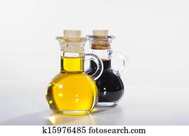 olive oil and balsamico in glass