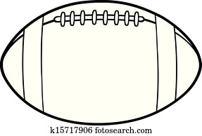 Outlined American Football Ball