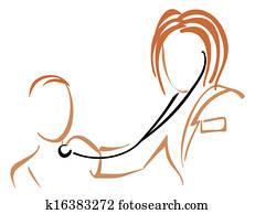 Pediatrician with stethoscope