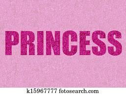 pink glitter princess