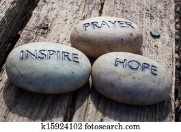 Prayer, inspire, hope, rocks