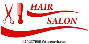 red hair salon symbol