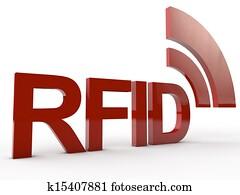 red RFID Tag