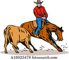 Rodeo Cowboy Horse Riding