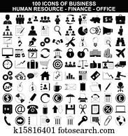 satz, von, geschaefts, icons,, menschlich, resource,, finanz, und, büro