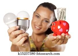 saving money with LED