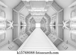 Spaceship interior center view