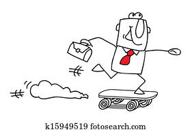 speed businessman