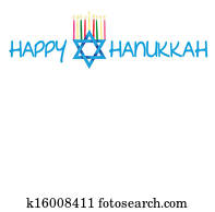 Star of David and Menorah Hanukkah