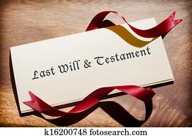 Still Life Of Will Document On Desk