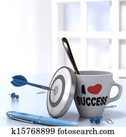 Successful Executive Concept