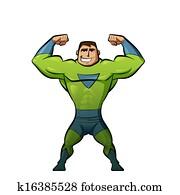 Super hero in green suit