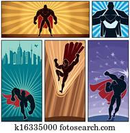 superhero, banner, 2