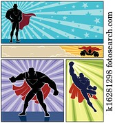 superhero, banner