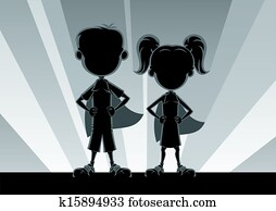 Superkids Silhouettes