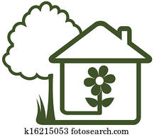 tree, house, flower and home garden