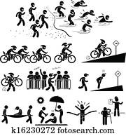 Triathlon Marathon Pictogram
