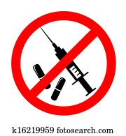 Vector no drugs symbol