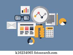 web, analytics, abbildung