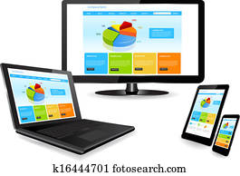 website template on multiple device