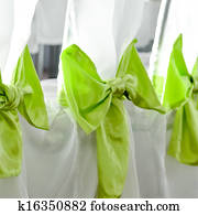 Wedding party chairs decoration