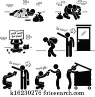 wohnungslos, mann, familie, bettelmann, arbeitslos
