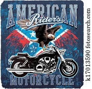 American Motorcycle rider