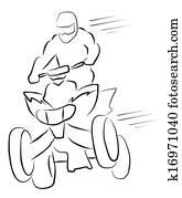 atv moto racer Illustration