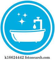 bathroom icon - hygiene symbol