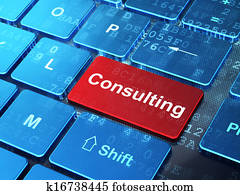Business concept: Consulting on computer keyboard background