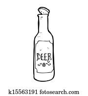 cartoon beer bottle